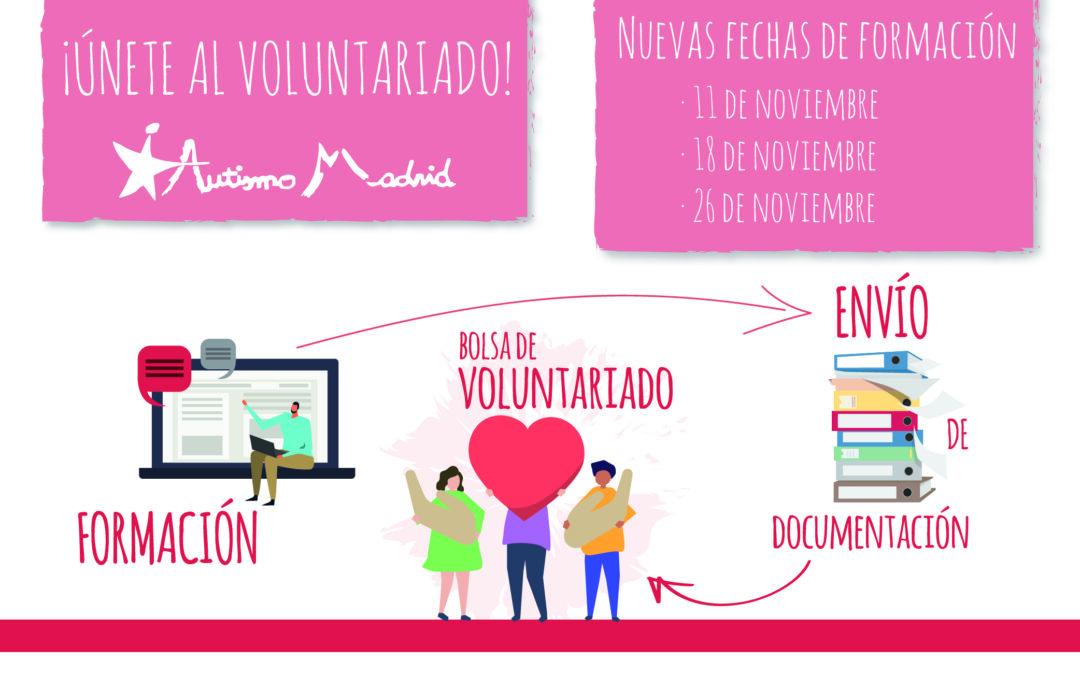Nuevas fechas: formación en voluntariado específico en TEA