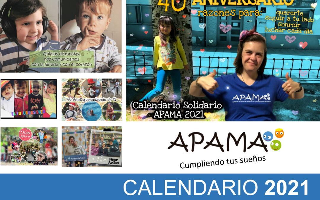 Ya está a la venta el calendario solidario de APAMA