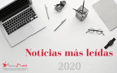 Las diez noticias más leídas en 2020 en la web de Autismo Madrid