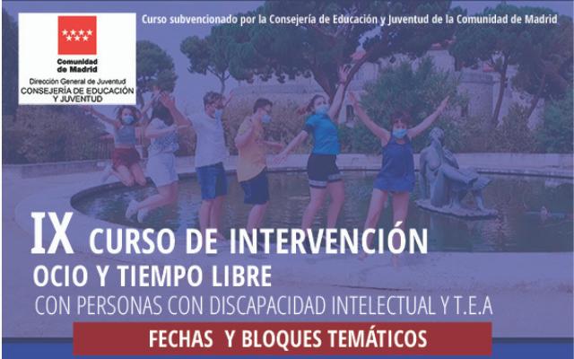 Curso de Intervención en ocio y tiempo libre con personas con discapacidad intelectual y TEA
