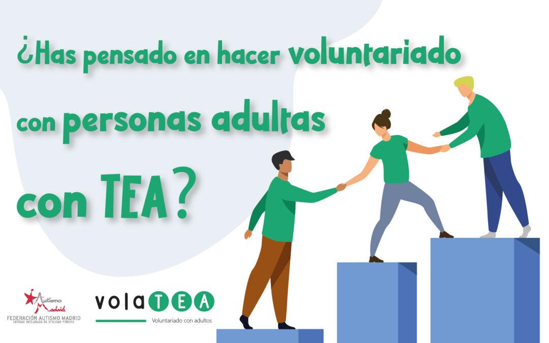¿Has pensado en hacer voluntariado con personas adultas con TEA?