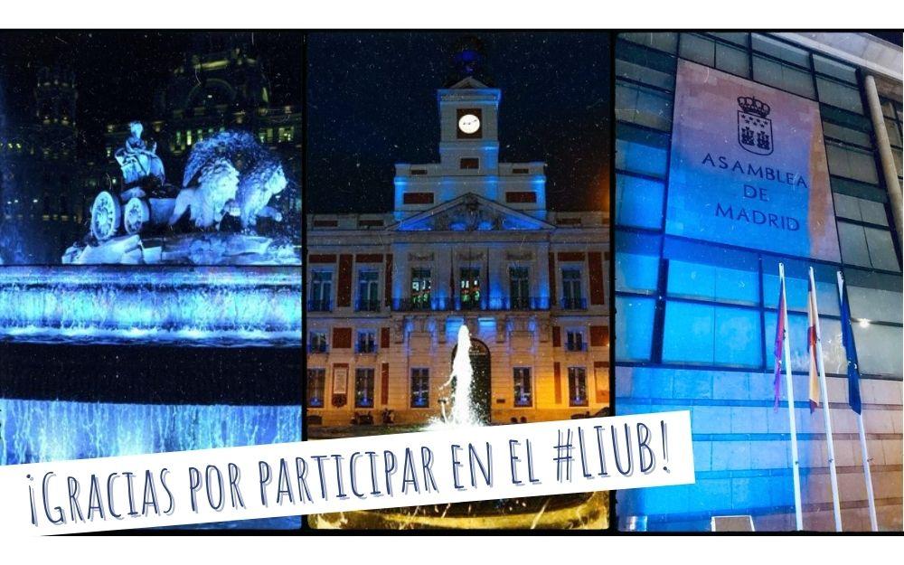 Decenas de edificios se iluminan de azul en la Comunidad de Madrid