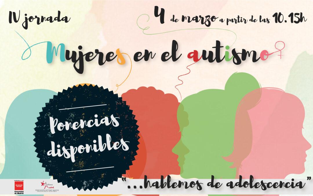 Disponibles las ponencias de la IV Jornada Mujeres en el Autismo – Hablemos de Adolescencia
