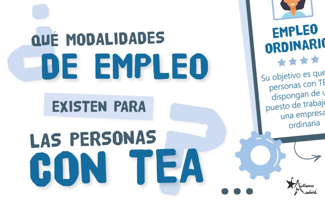 ¿Qué modalidades de empleo existen para las personas con TEA?