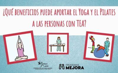 ¿Qué beneficios puede aportar el Yoga y el Pilates a las personas con TEA?